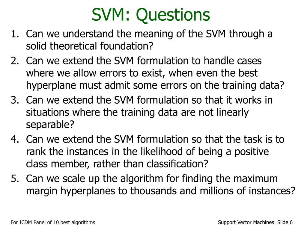 SVM: Questions
