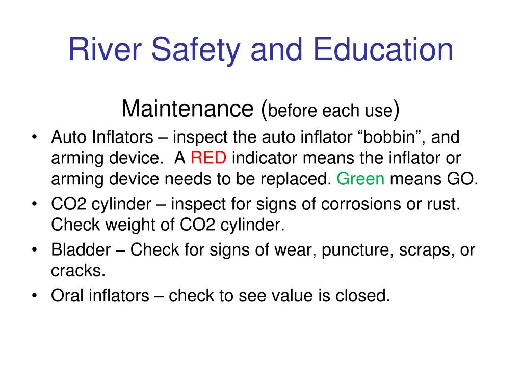 River Safety and Education