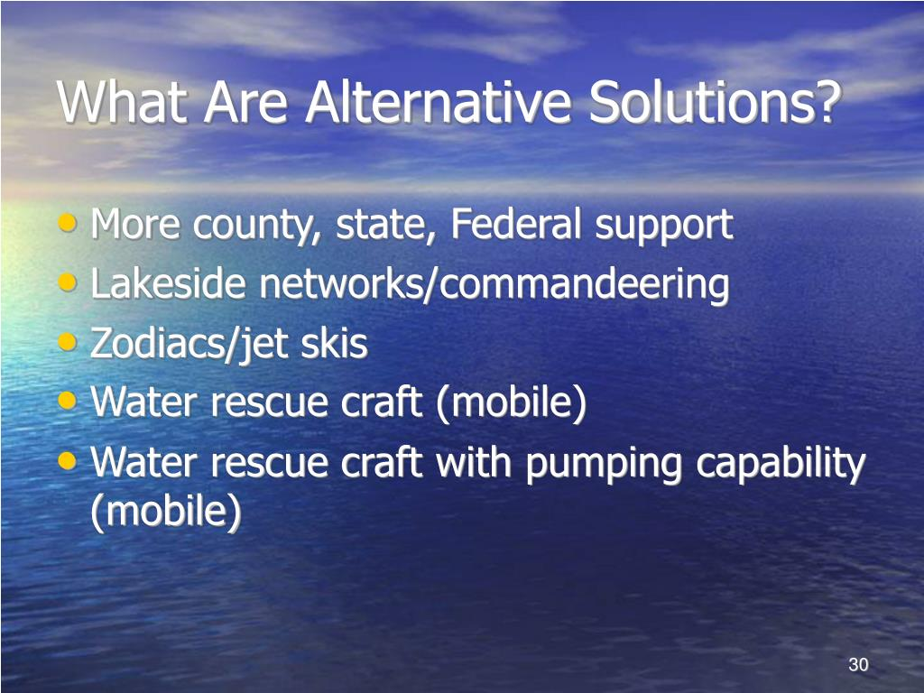 What Are Alternative Solutions?
