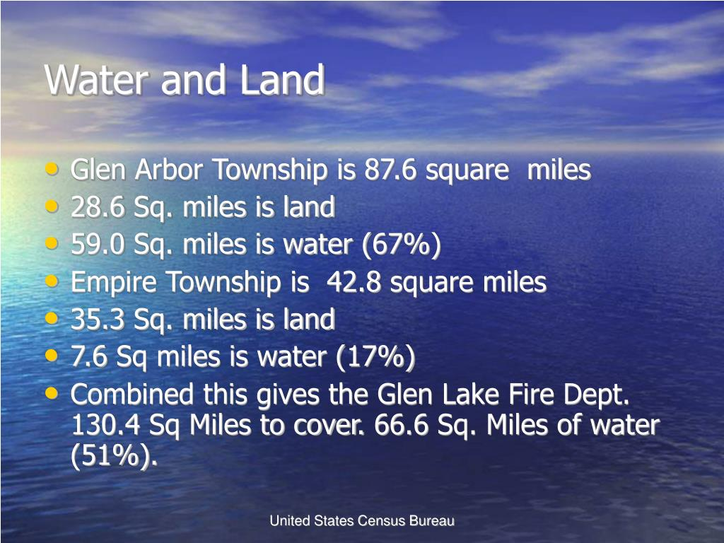 Water and Land