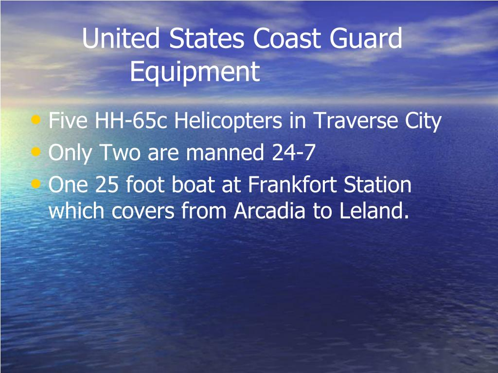 United States Coast Guard Equipment