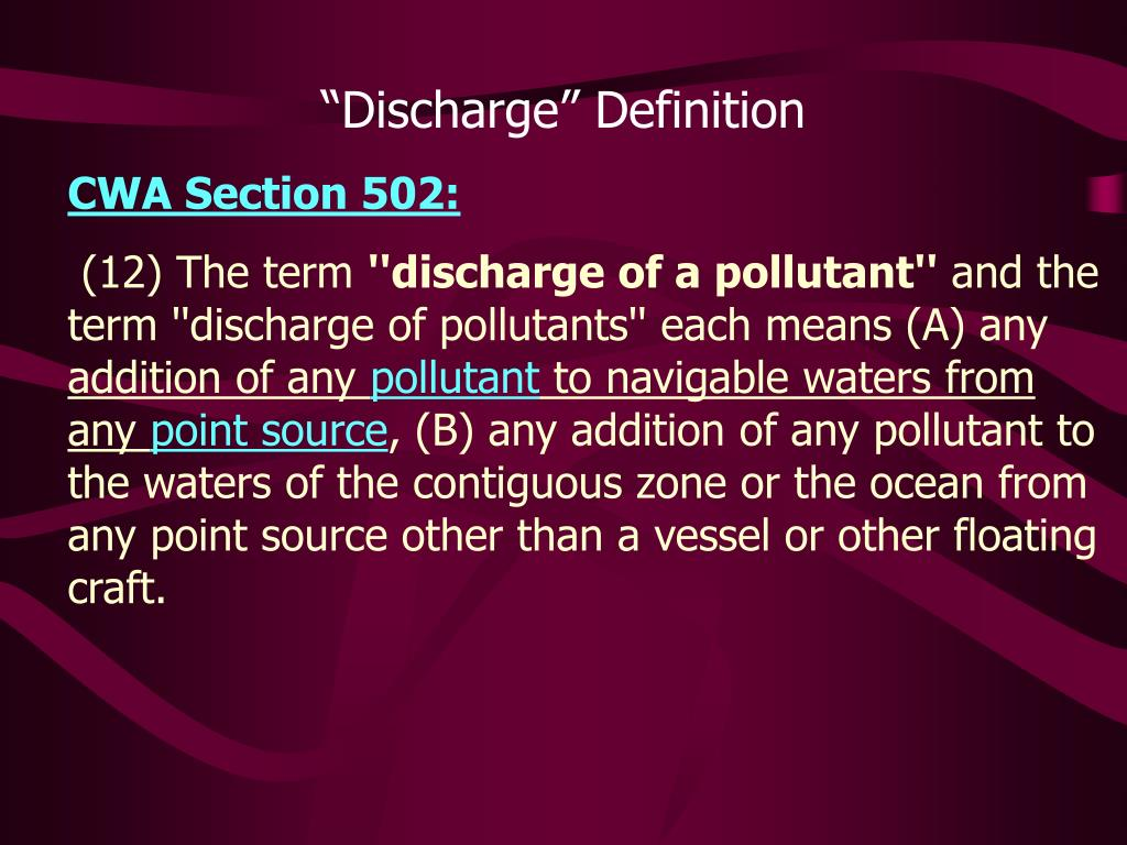"""Discharge"" Definition"