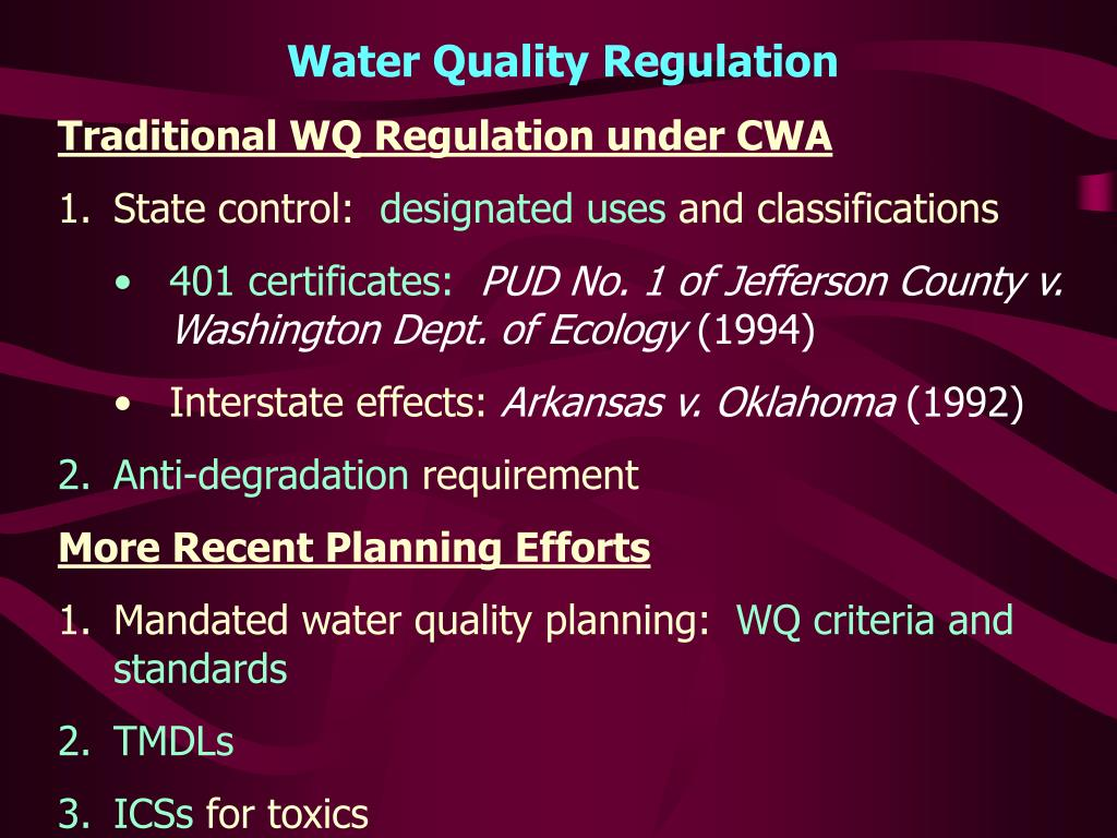 Water Quality Regulation