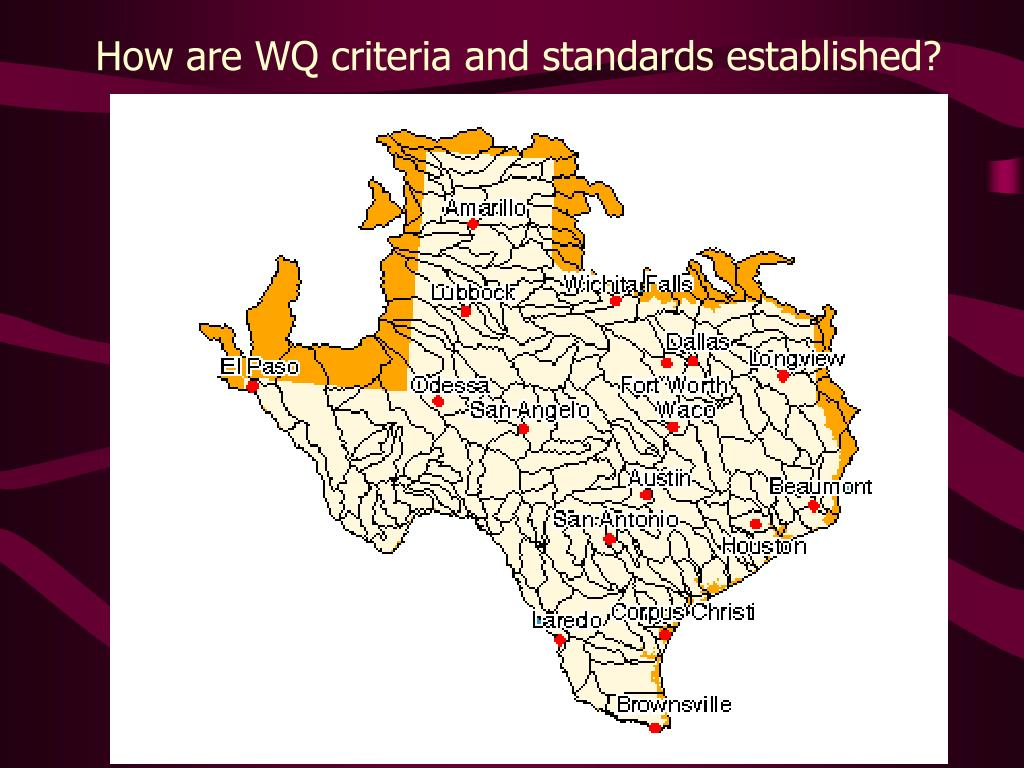 How are WQ criteria and standards established?