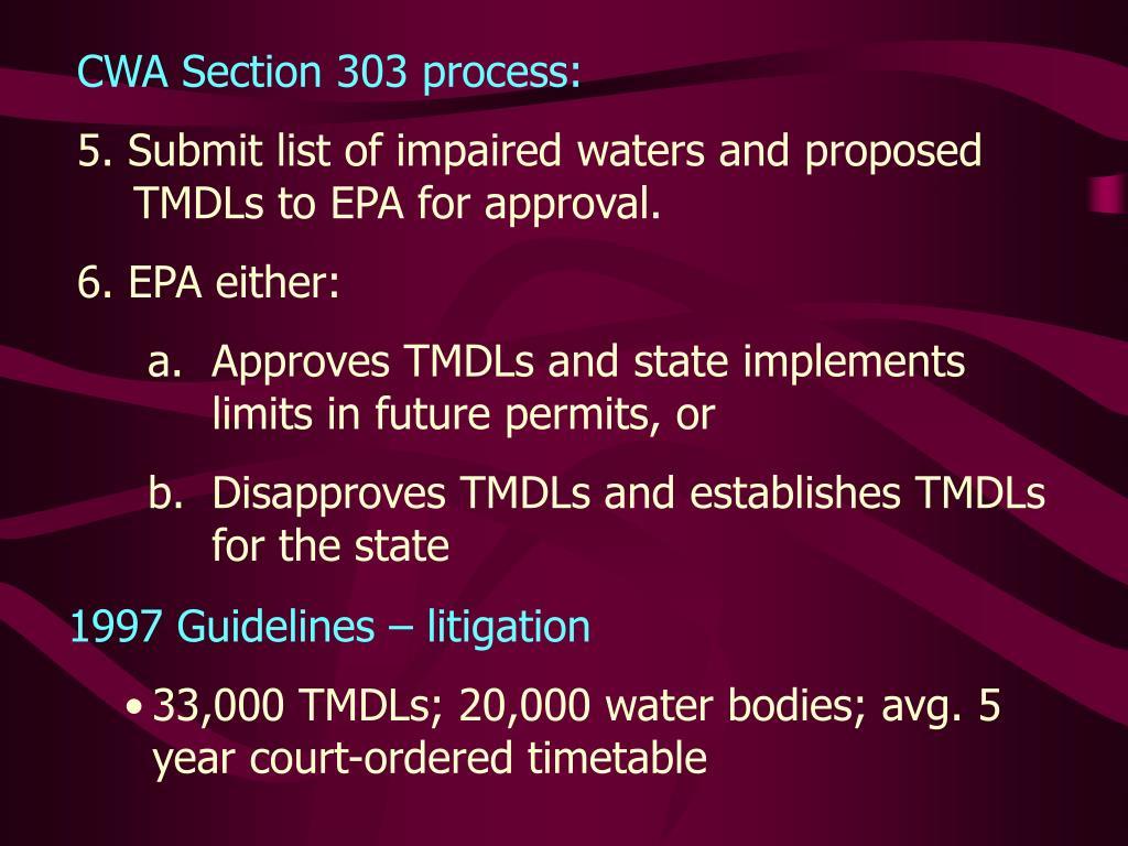 CWA Section 303 process: