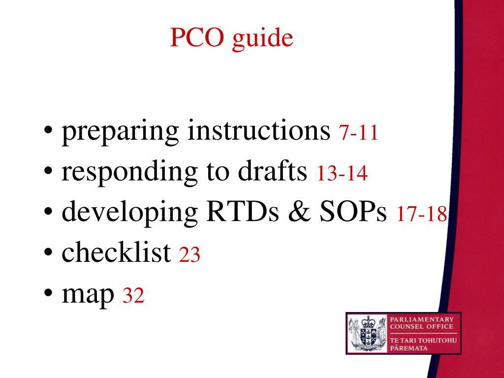 PCO guide