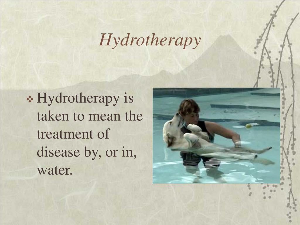 Hydrotherapy is taken to mean the treatment of disease by, or in, water.