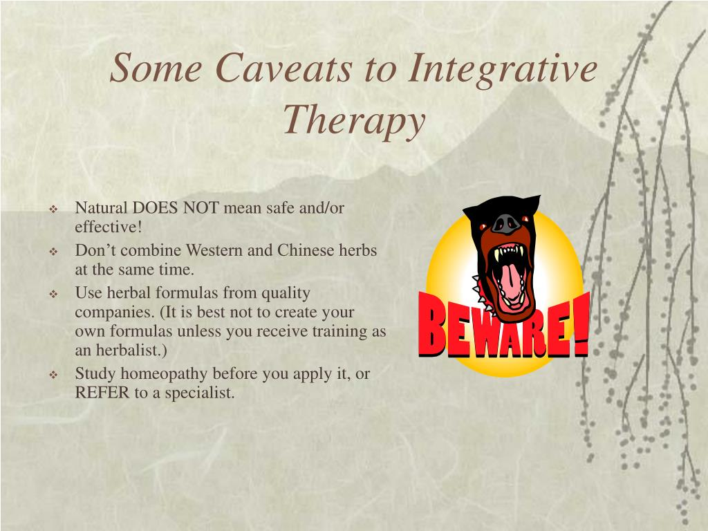 Some Caveats to Integrative Therapy