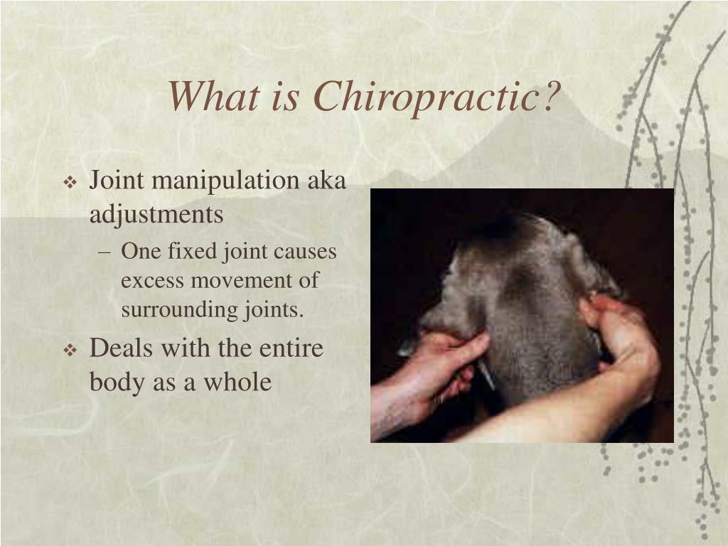 Joint manipulation aka adjustments