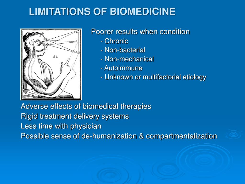 LIMITATIONS OF BIOMEDICINE