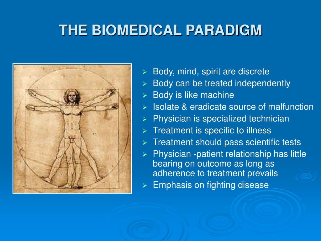 THE BIOMEDICAL PARADIGM