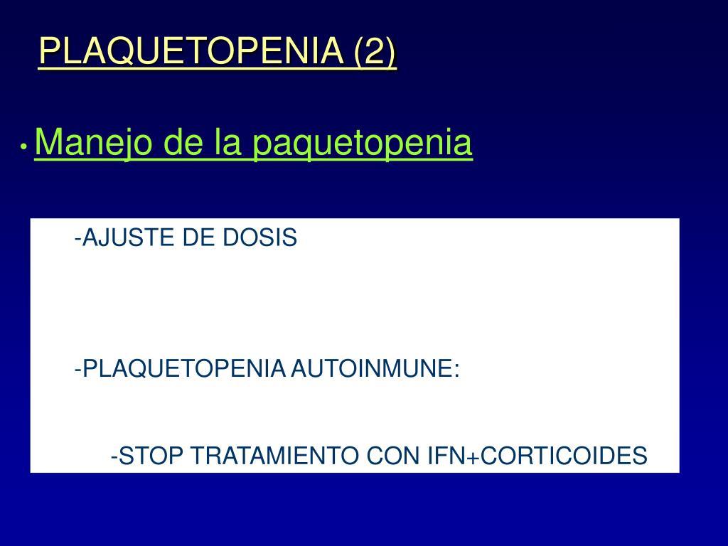 PLAQUETOPENIA (2)