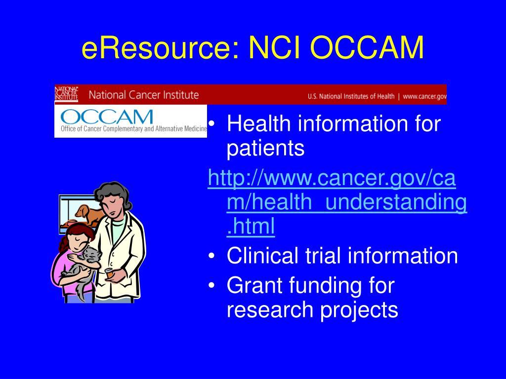 eResource: NCI OCCAM