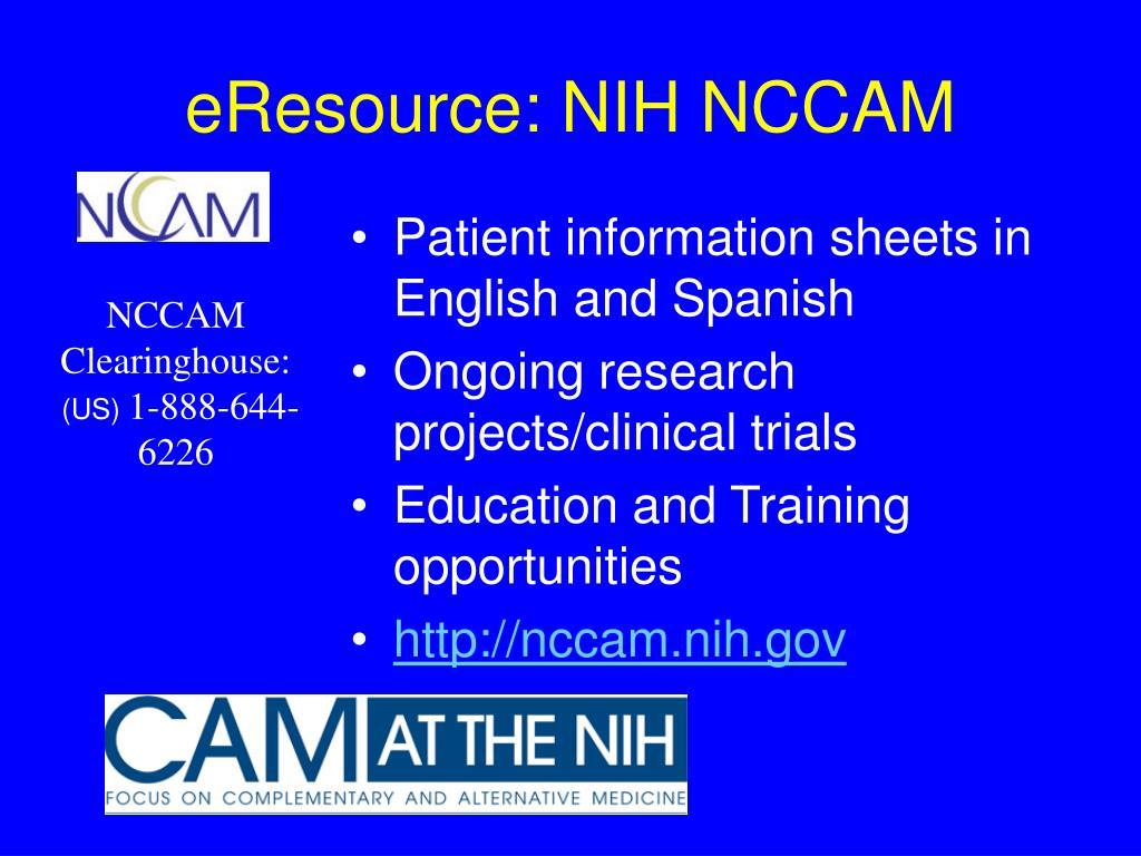 eResource: NIH NCCAM
