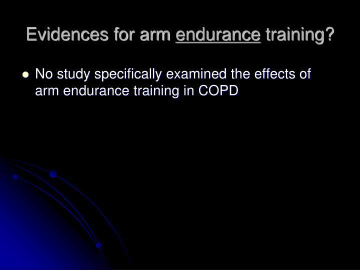 Evidences for arm