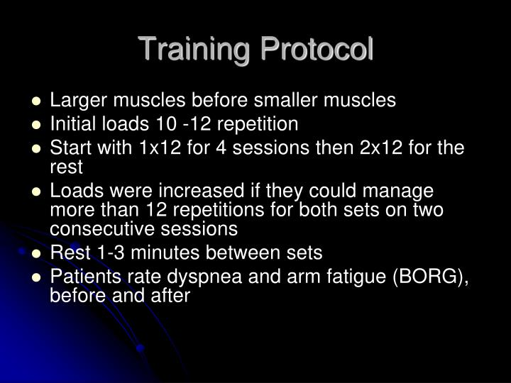 Training Protocol