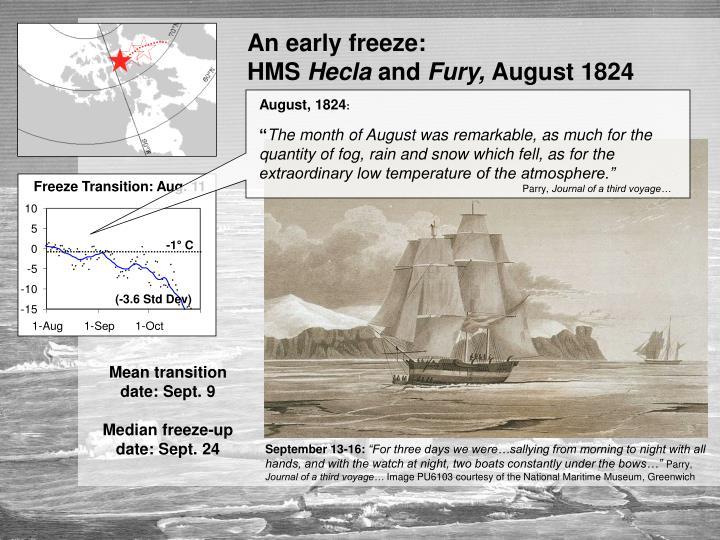 An early freeze:                                  HMS