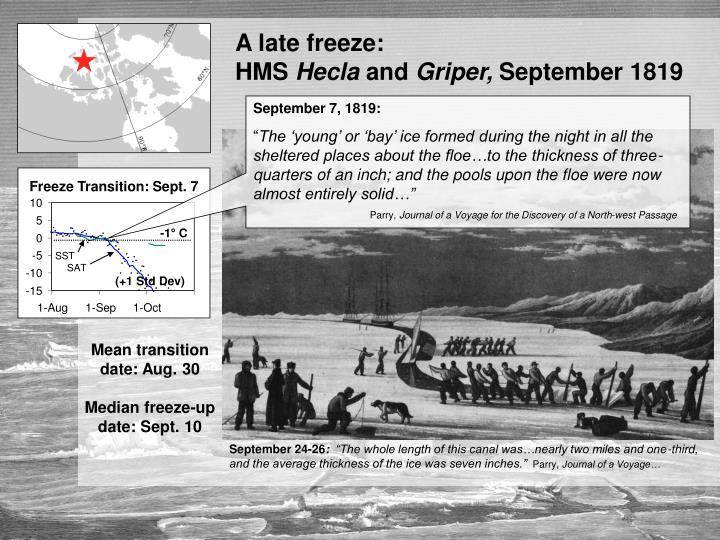 A late freeze: