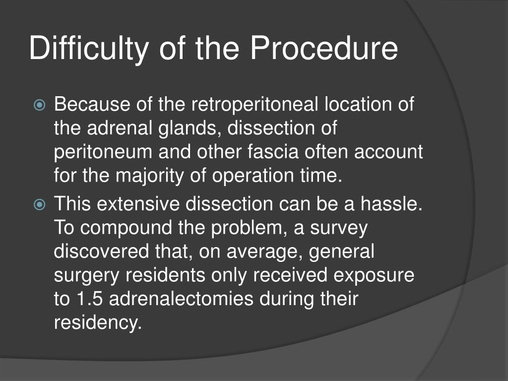 Difficulty of the Procedure
