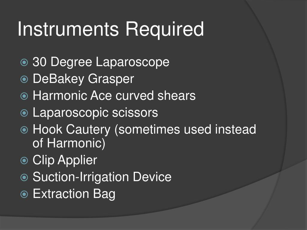 Instruments Required