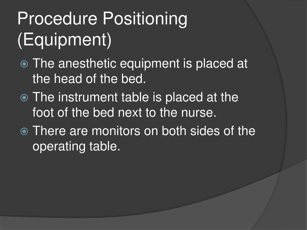 Procedure Positioning (Equipment)
