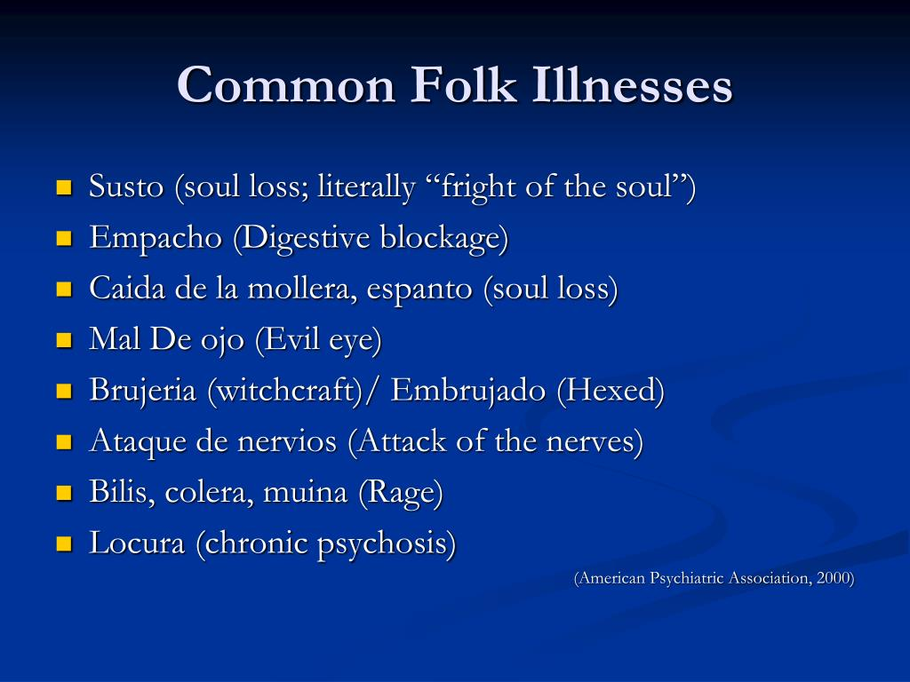 Common Folk Illnesses