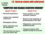 3 back up claims with solid proof23