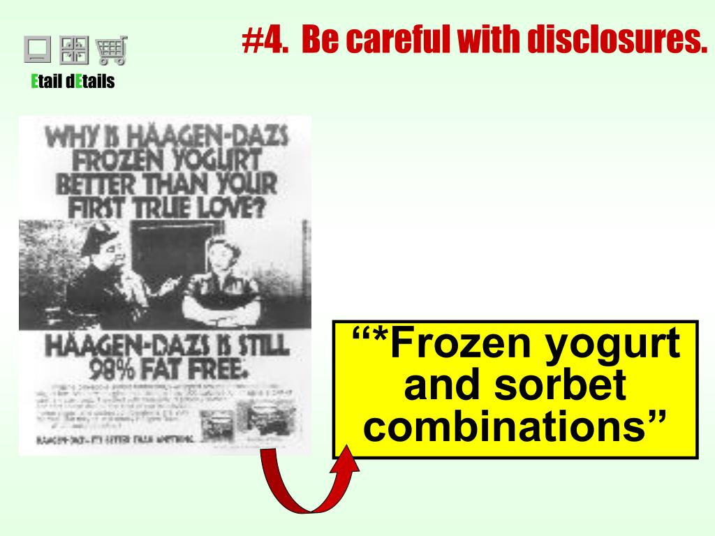 #4.  Be careful with disclosures.