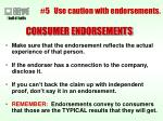 5 use caution with endorsements38