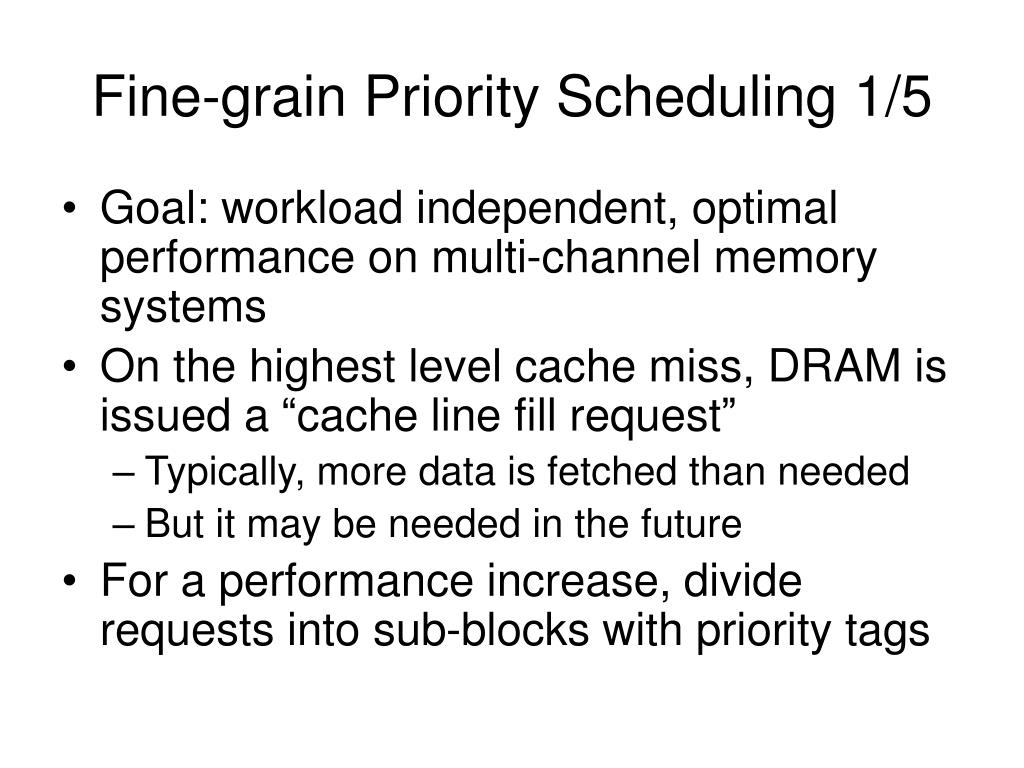 Fine-grain Priority Scheduling 1/5