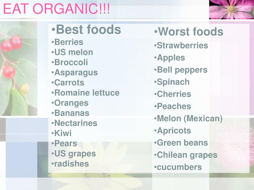 EAT ORGANIC!!!
