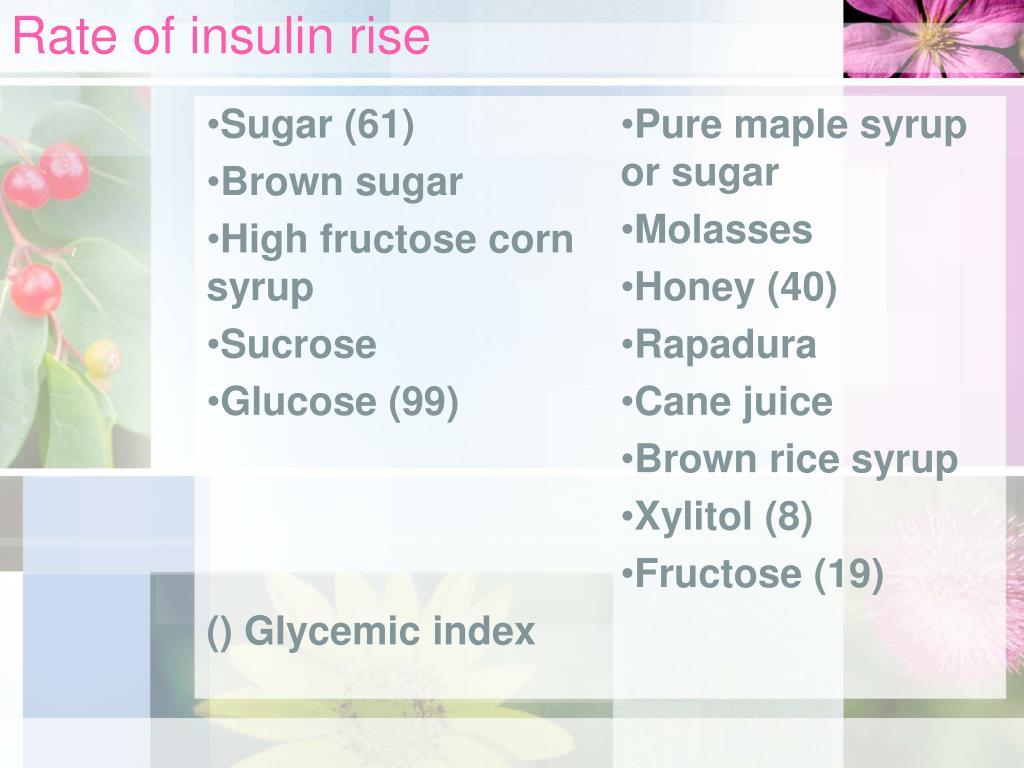 Rate of insulin rise