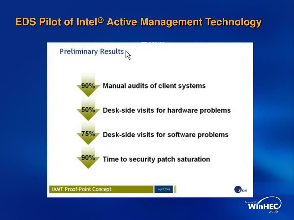 EDS Pilot of Intel