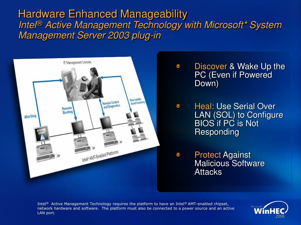 Hardware Enhanced Manageability