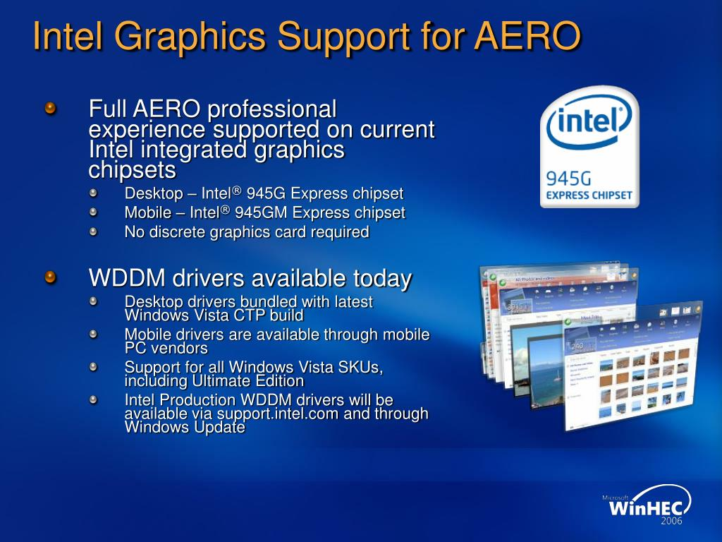 Intel Graphics Support for AERO