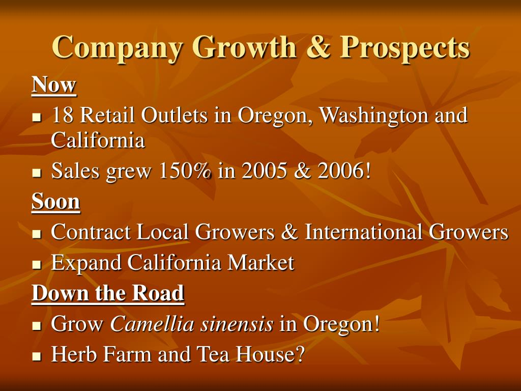 Company Growth & Prospects