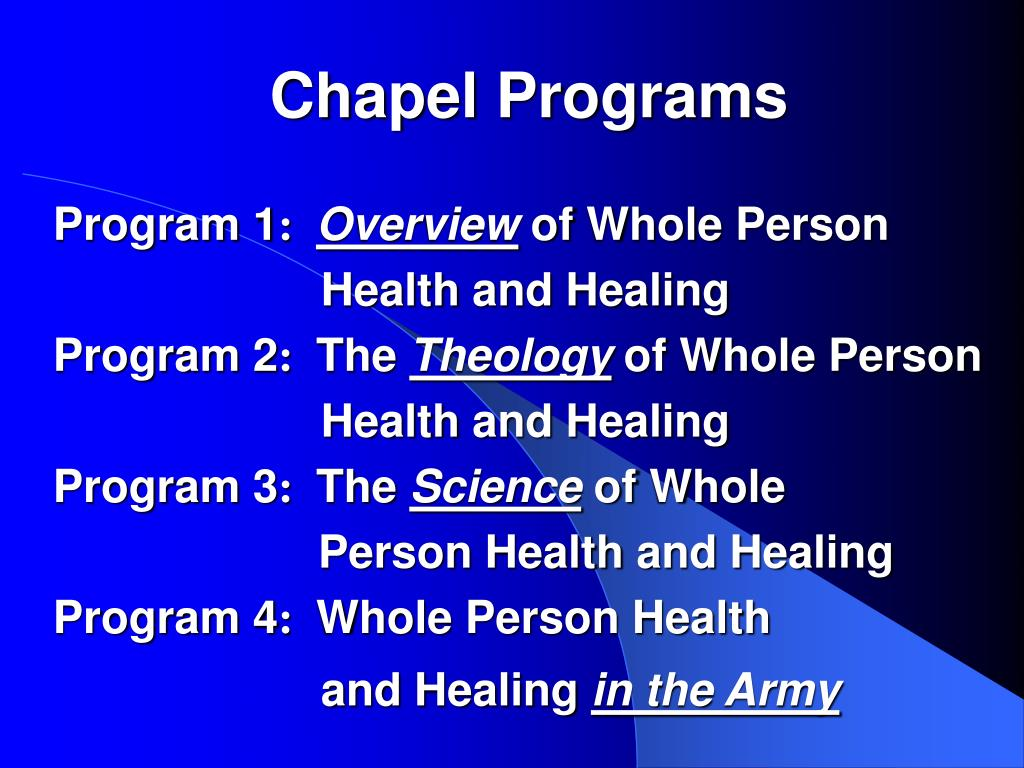 Chapel Programs