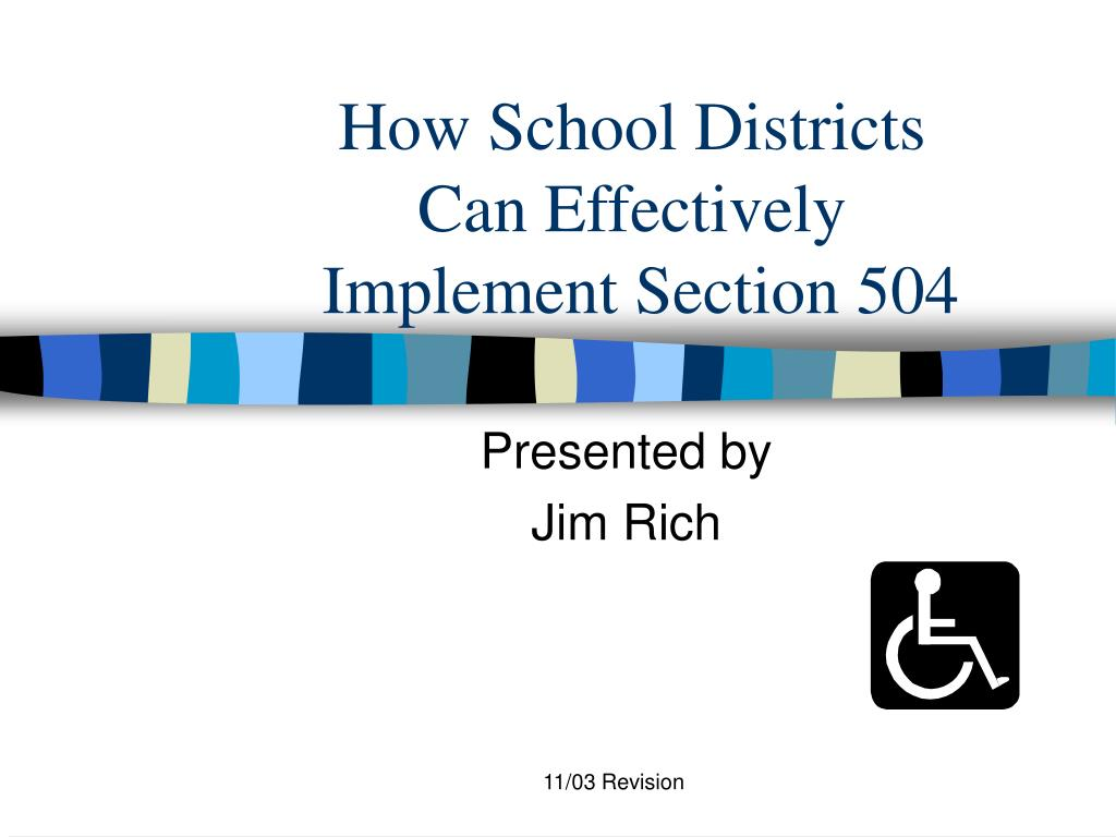 how school districts can effectively implement section 504