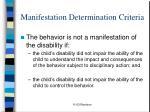 manifestation determination criteria21