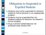 obligations to suspended or expelled students