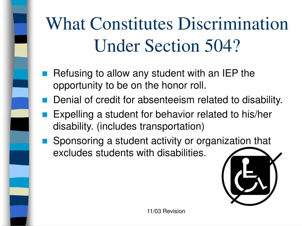 What Constitutes Discrimination Under Section 504?