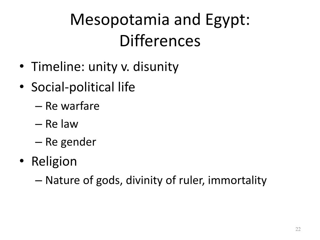 compare mesopotamia and egypt political and religious system