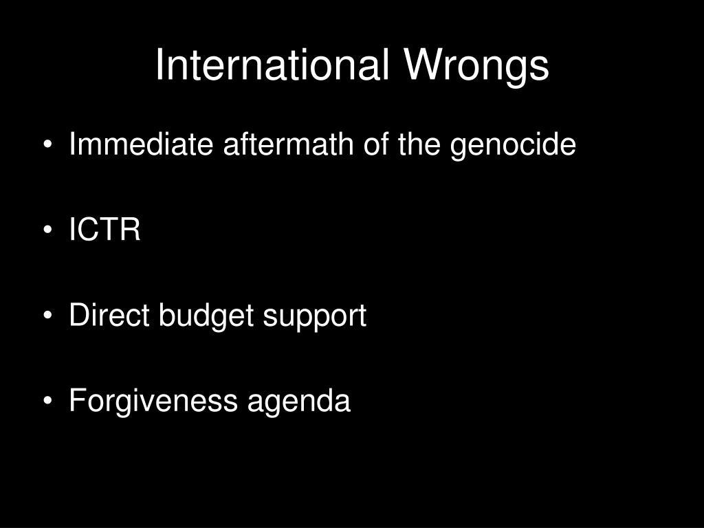 International Wrongs