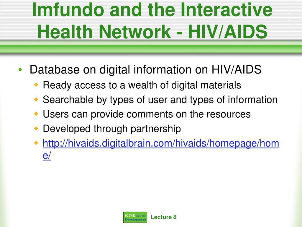 Imfundo and the Interactive Health Network - HIV/AIDS