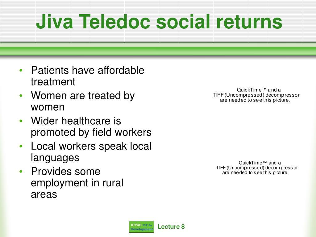 Jiva Teledoc social returns