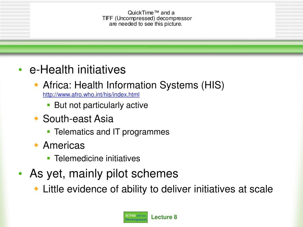 e-Health initiatives