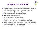 nurse as healer