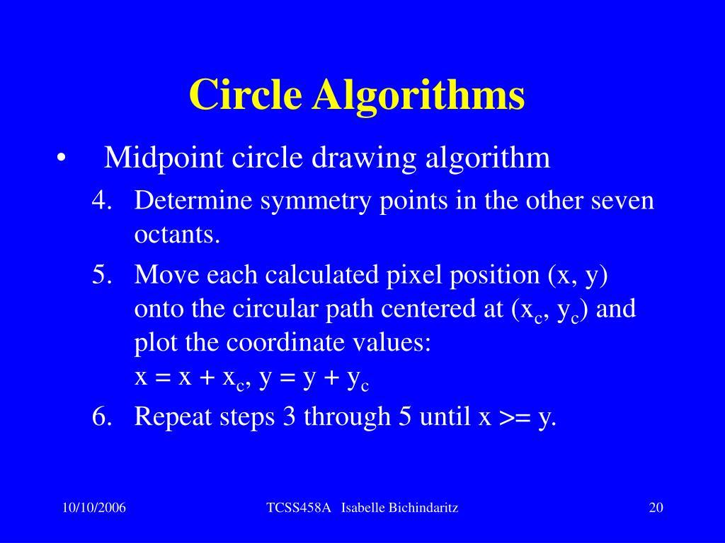 Circle Algorithms