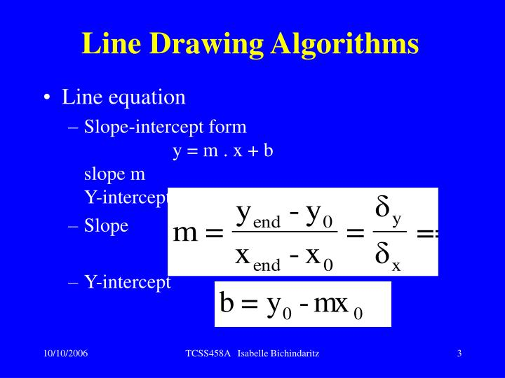 Line drawing algorithms3