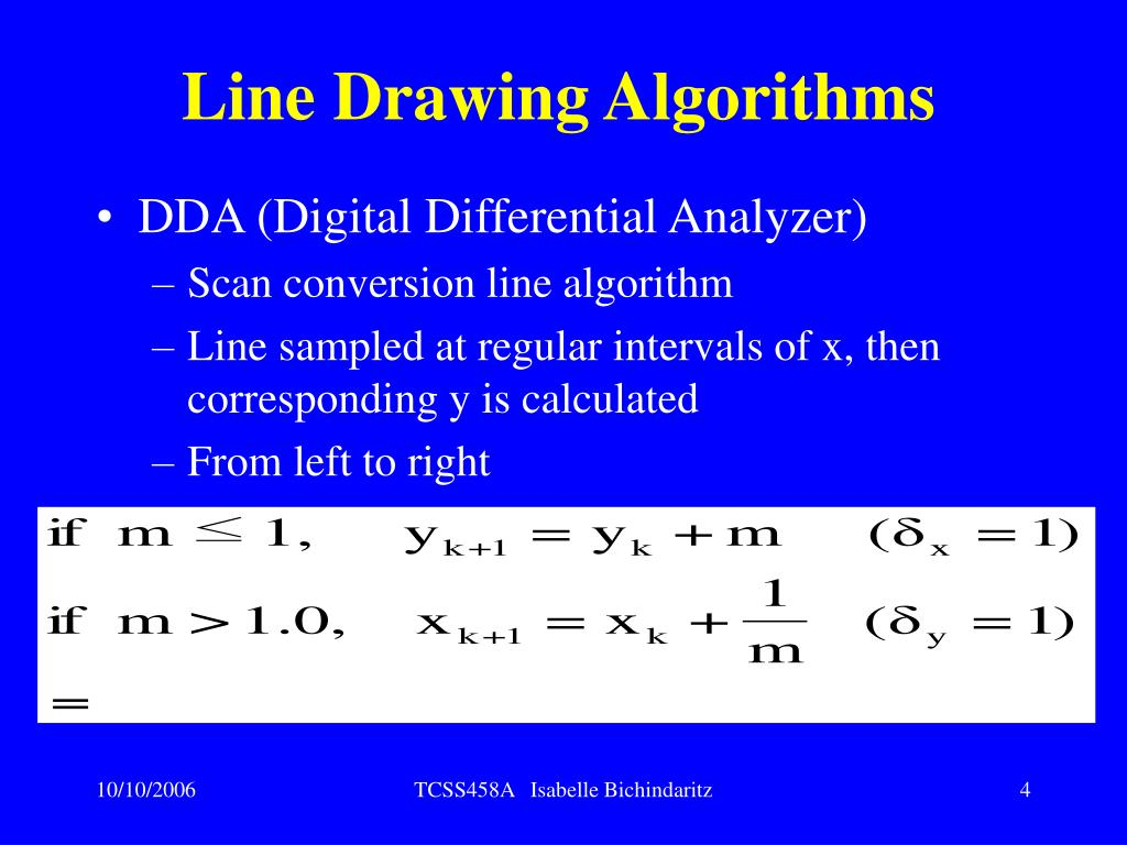 Line Drawing Algorithms